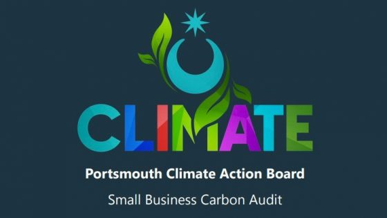 Logo for Portsmouth Climate Action Board Small Business Carbon Audit.