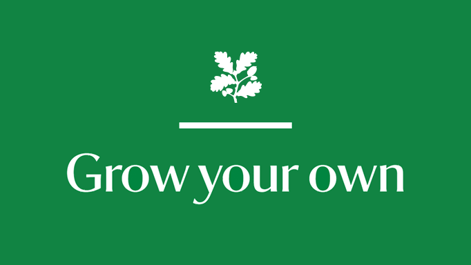 National Trust grow your own campaign logo.